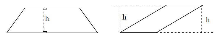Propriétés du trapèze-Surface du trapèze - Calcul en ligne